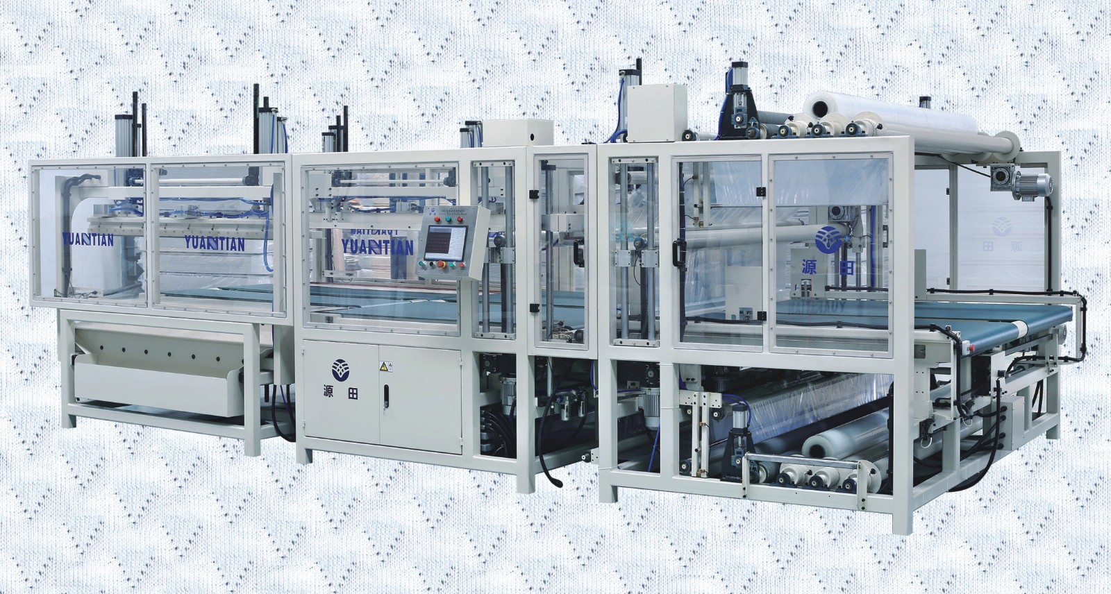 Custom mattress packing machine border bending unpressing YUANTIAN Mattress Machines