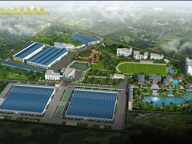 Birth's Eye View Of Yuantian Industrial  Park