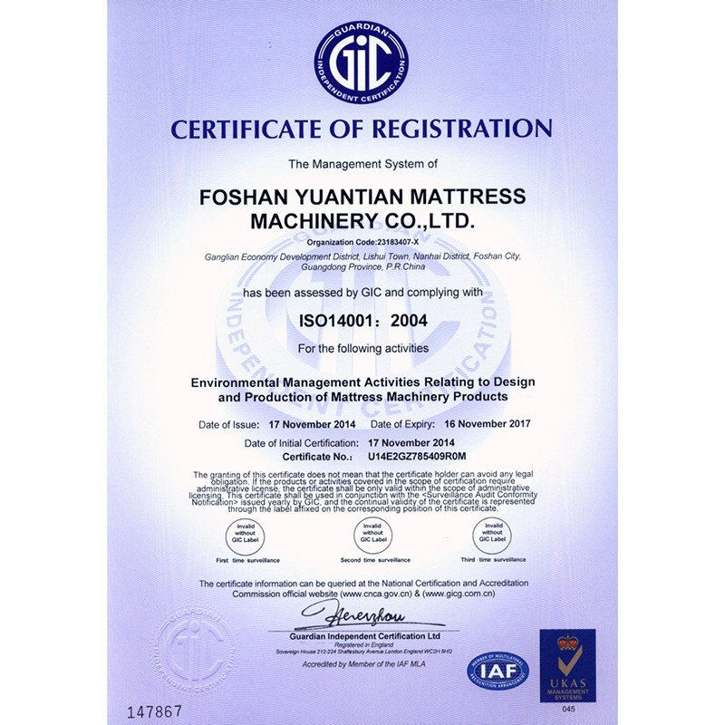 CERTIFICATE OF ISO REGISTRATION