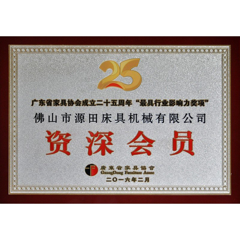 Guangdong Furniture Association Senior Member