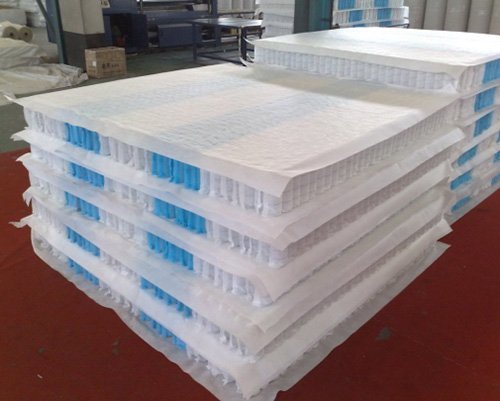 Hot mattress spring unit nonwoven top zoned YUANTIAN Mattress Machines Brand