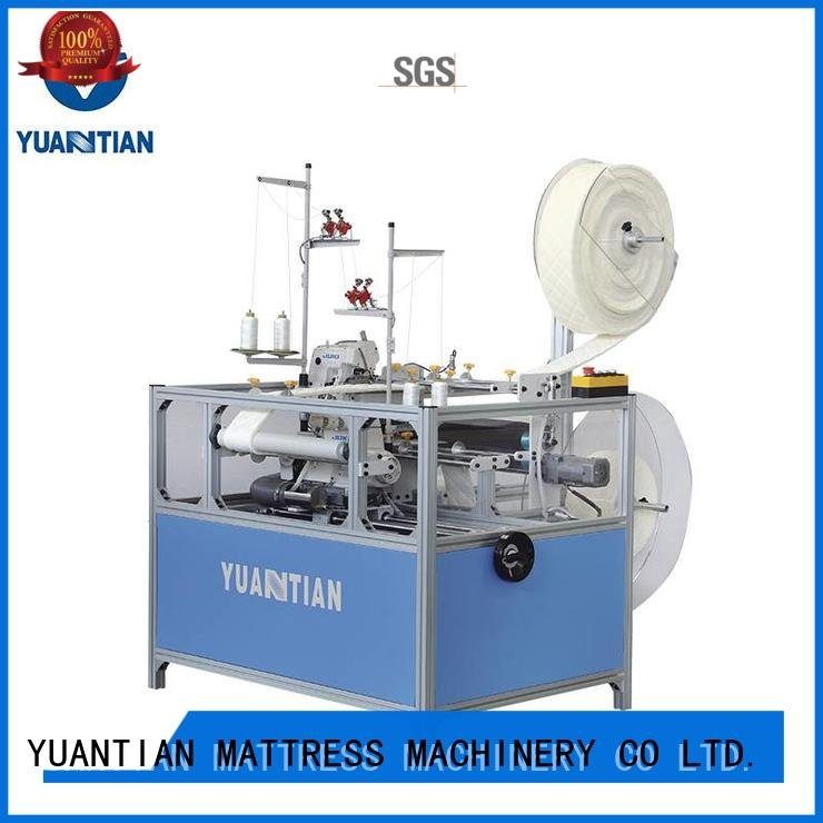 ds7a dss1250 YUANTIAN Mattress Machines Double Sewing Heads Flanging Machine