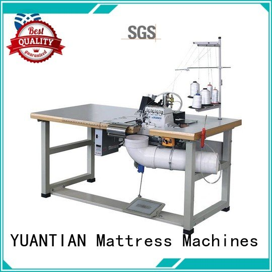 Double Sewing Heads Flanging Machine multifunction heads OEM Mattress Flanging Machine YUANTIAN Mattress Machines