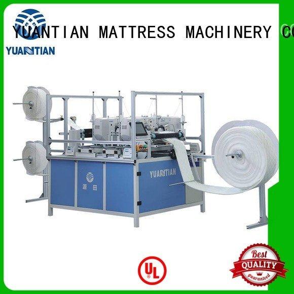 YUANTIAN Mattress Machines Brand multineedle border quilting machine for mattress single mattress