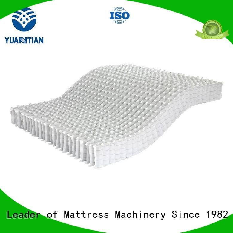 YUANTIAN Mattress Machines Brand pocket nonwoven mattress spring unit bottom covers