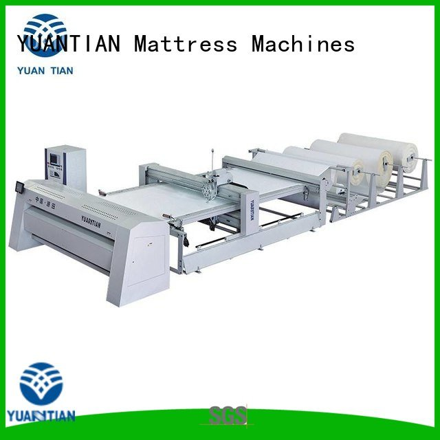 Custom quilting machine for mattress multineedle highspeed double YUANTIAN Mattress Machines