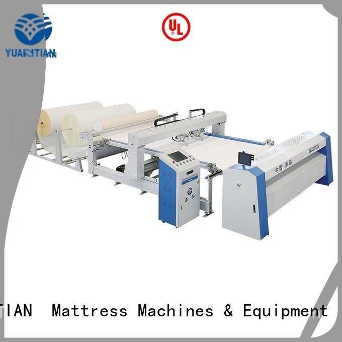 YUANTIAN Mattress Machines Brand four double quilting machine for mattress price heads highspeed