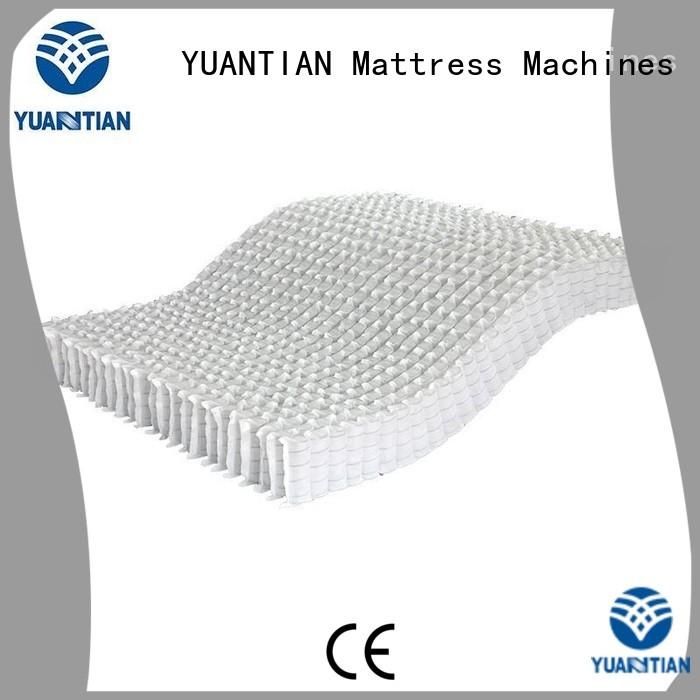YUANTIAN Mattress Machines Brand zoned top mattress spring unit covers