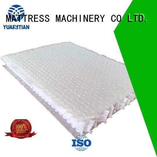YUANTIAN Mattress Machines zoned bottom with mattress spring unit unit