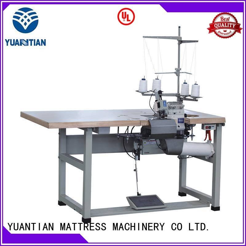 ds8a double YUANTIAN Mattress Machines Double Sewing Heads Flanging Machine