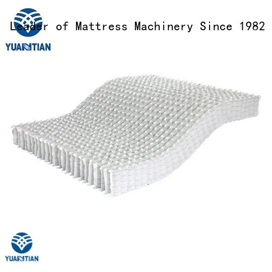 Hot mattress spring unit nested nonwoven zoned YUANTIAN Mattress Machines Brand