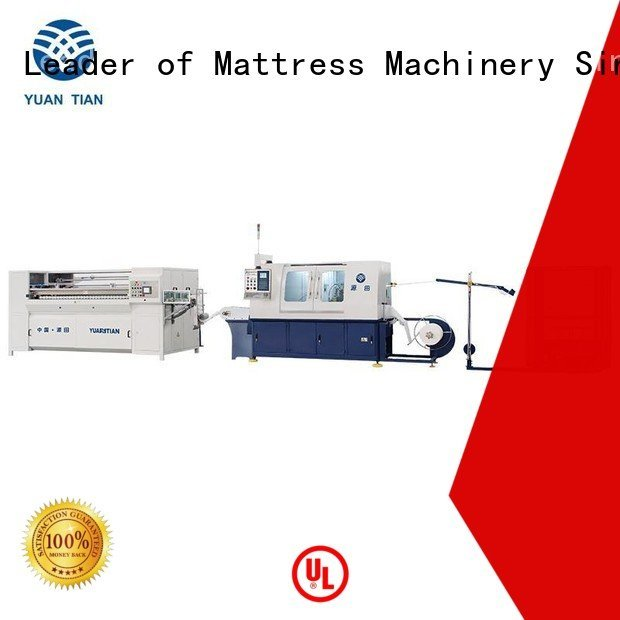 assembling Automatic High Speed Pocket Spring Machine YUANTIAN Mattress Machines Automatic Pocket Spring Machine