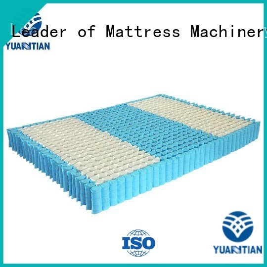 YUANTIAN Mattress Machines Brand top nonwoven mattress spring unit spring zoned