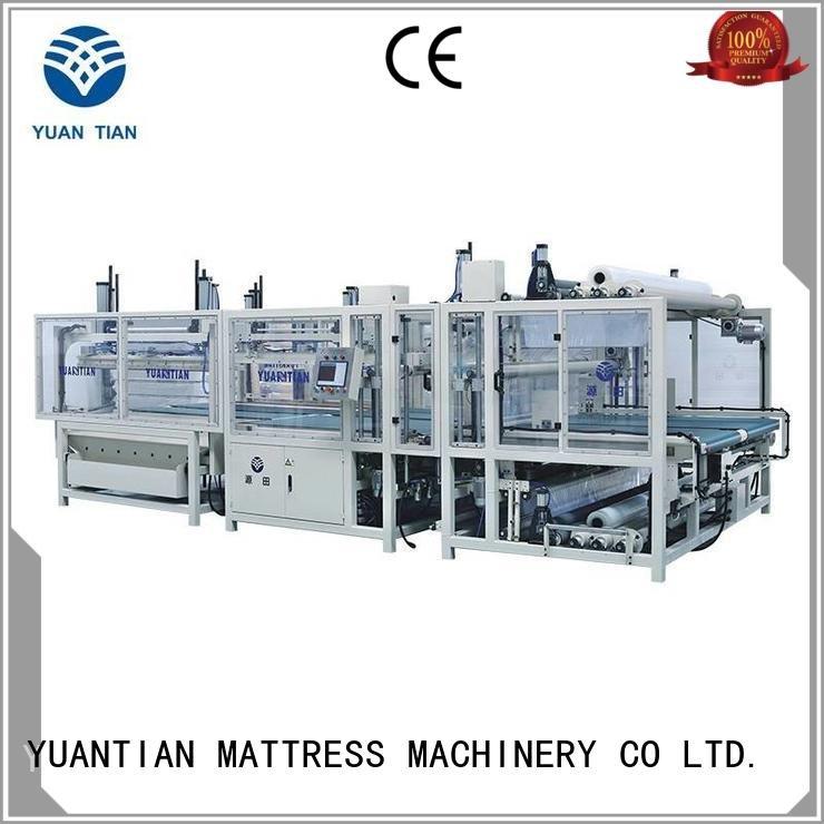 straightening poket automatic foam mattress making machine YUANTIAN Mattress Machines