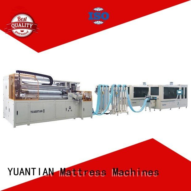 production automatic YUANTIAN Mattress Machines Automatic High Speed Pocket Spring Machine