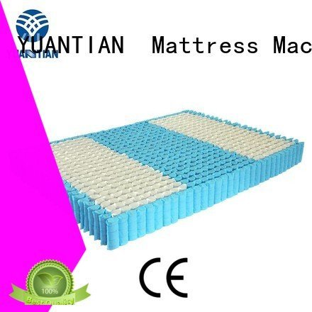 YUANTIAN Mattress Machines Brand spring zoned nonwoven mattress spring unit