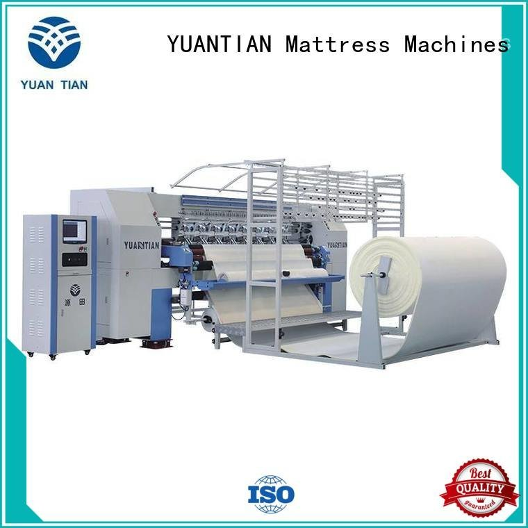 Custom quilting machine for mattress quilting border side YUANTIAN Mattress Machines