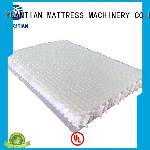 nonwoven covers YUANTIAN Mattress Machines mattress spring unit