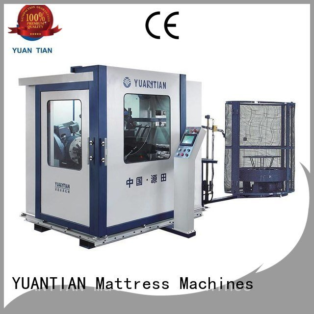 Quality bonnell spring machine YUANTIAN Mattress Machines Brand line Automatic Bonnell Spring Coiling Machine spring
