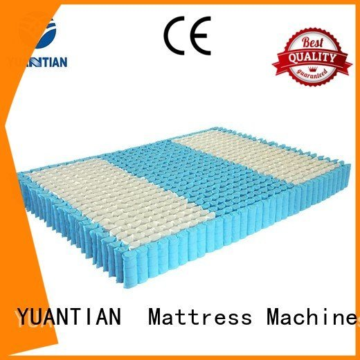 nested mattress spring unit zoned covers mattress spring unit YUANTIAN Mattress Machines Warranty pocket spring
