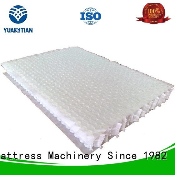 YUANTIAN Mattress Machines zoned mattress spring unit spring nested