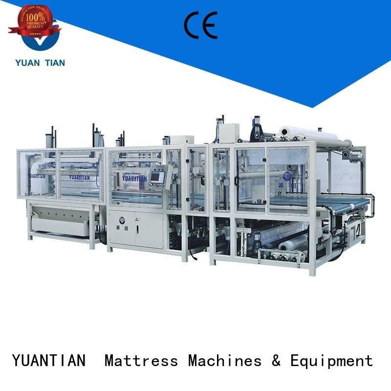 foam mattress making machine straightening mattress packing machine packing YUANTIAN Mattress Machines