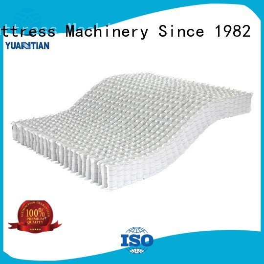 YUANTIAN Mattress Machines nonwoven zoned mattress spring unit pocket nested