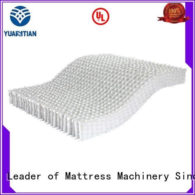 YUANTIAN Mattress Machines Brand bottom zoned nonwoven mattress spring unit pocket
