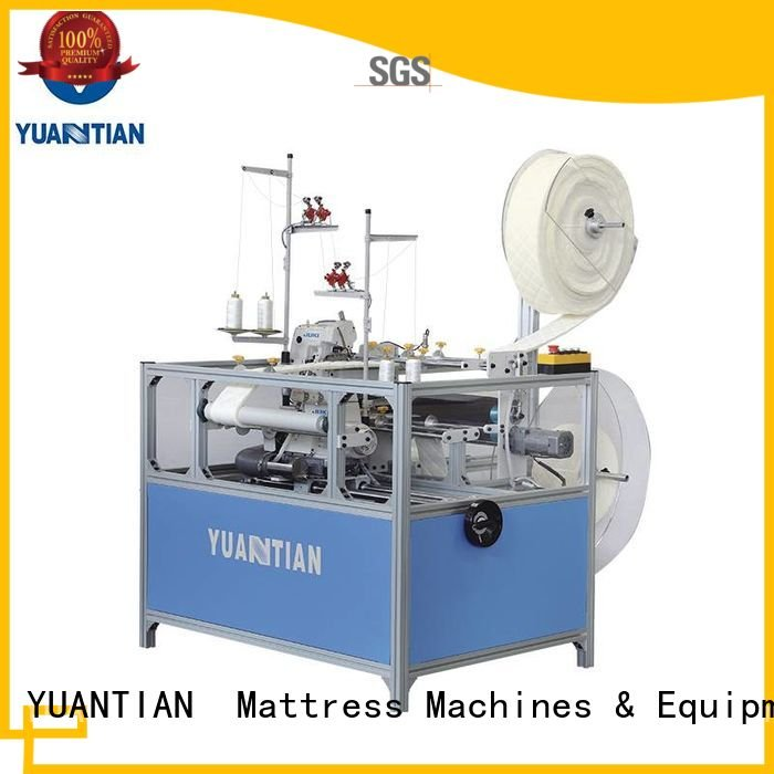 Double Sewing Heads Flanging Machine double YUANTIAN Mattress Machines Brand Mattress Flanging Machine
