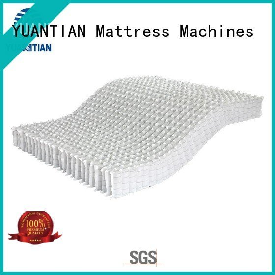 YUANTIAN Mattress Machines Brand nonwoven top zoned mattress spring unit