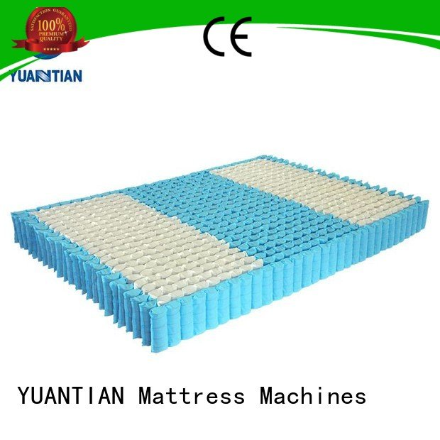 Hot mattress spring unit top zoned unit YUANTIAN Mattress Machines Brand