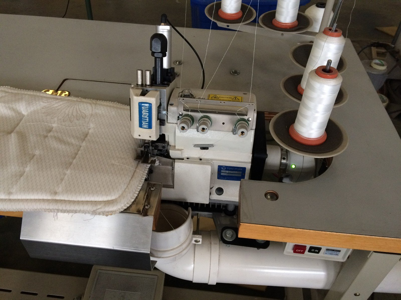 sewing flanging heads Double Sewing Heads Flanging Machine YUANTIAN Mattress Machines