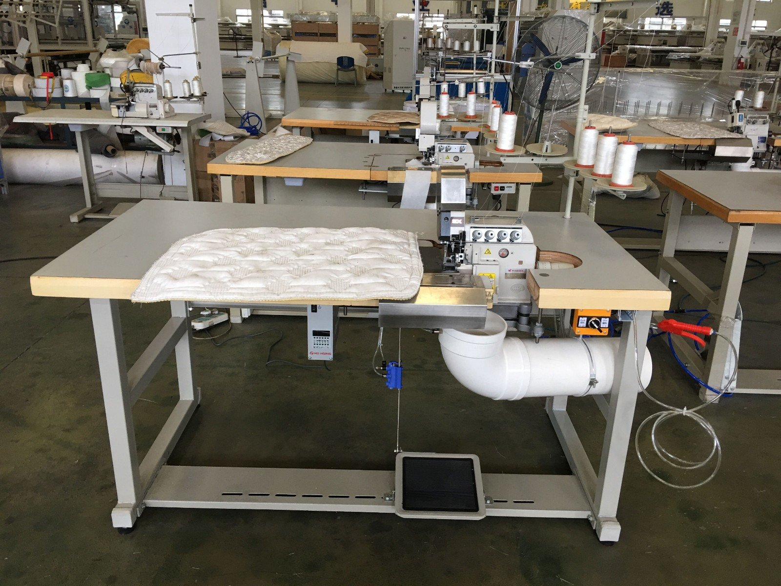 Double Sewing Heads Flanging Machine machine Mattress Flanging Machine flanging YUANTIAN Mattress Machines