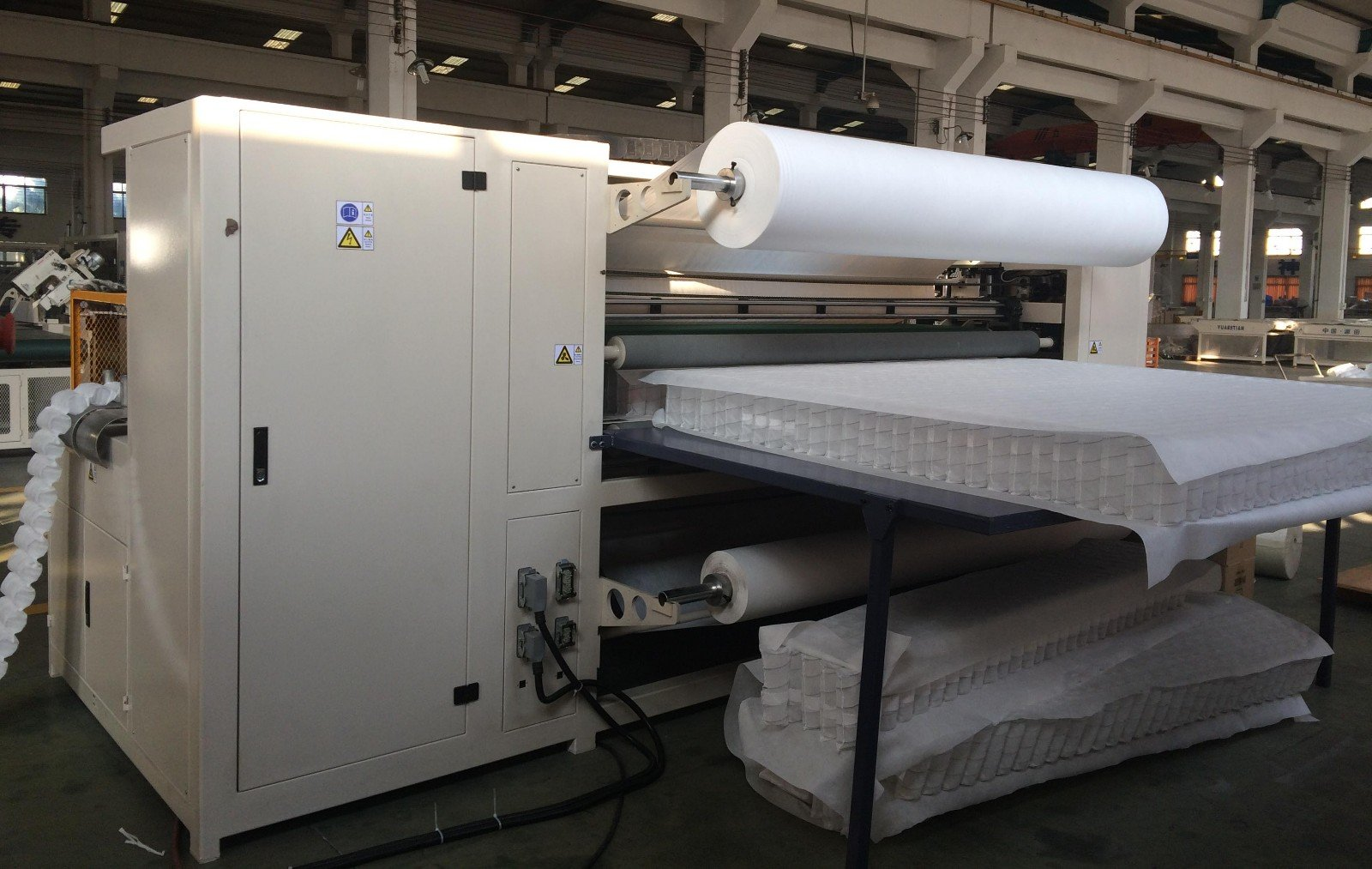 Custom Automatic High Speed Pocket Spring Machine assembling pocket dn6 YUANTIAN Mattress Machines