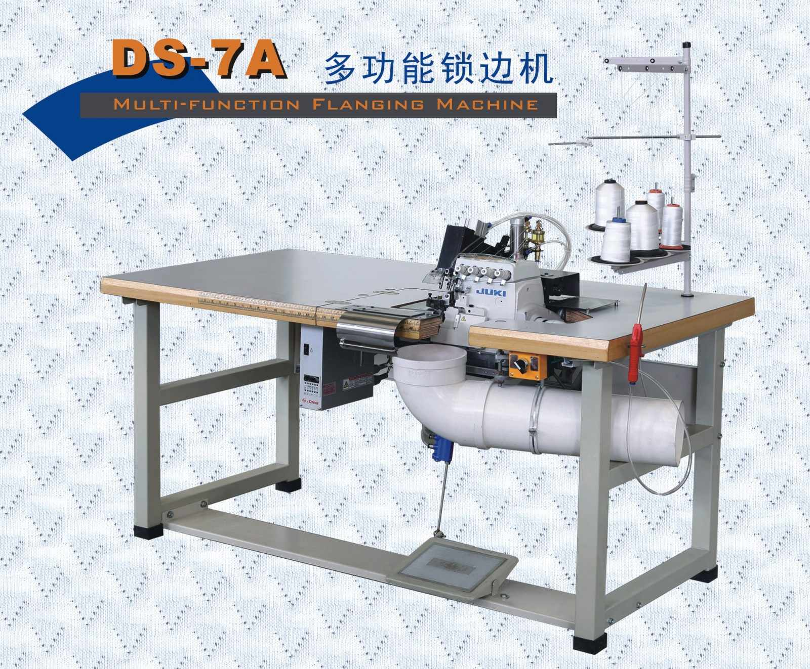 Double Sewing Heads Flanging Machine mattress machine double flanging