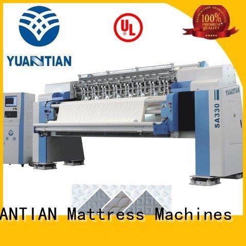 YUANTIAN Mattress Machines Brand lockstitch multineedle highspeed quilting machine for mattress