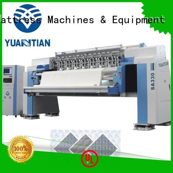 Custom quilting machine for mattress needle highspeed four YUANTIAN Mattress Machines