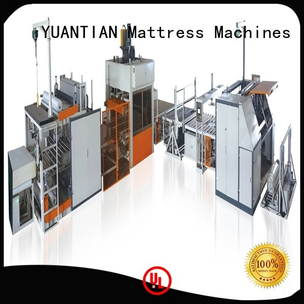 Custom unit straightening mattress packing machine YUANTIAN Mattress Machines poket