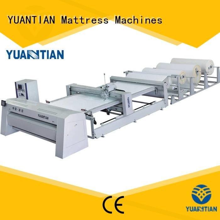 quilting machine for mattress price singleneedle heads OEM quilting machine for mattress YUANTIAN Mattress Machines