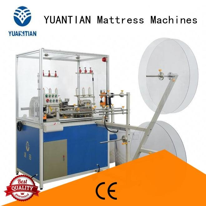 Double Sewing Heads Flanging Machine sewing flanging Mattress Flanging Machine YUANTIAN Mattress Machines Warranty