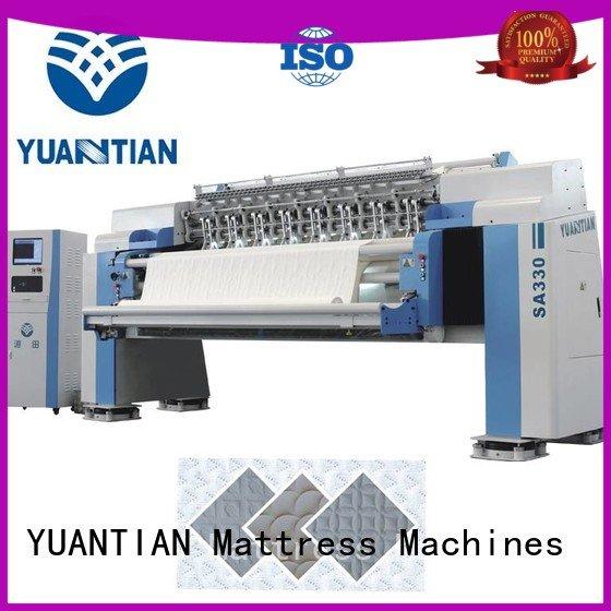 highspeed quilting heads YUANTIAN Mattress Machines quilting machine for mattress price