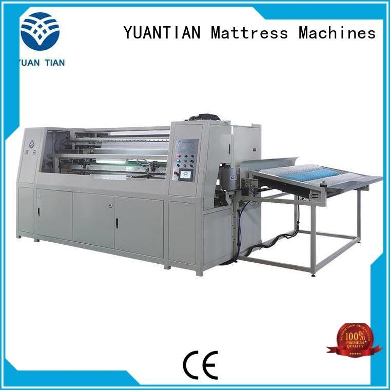 production pocket assembling YUANTIAN Mattress Machines Automatic High Speed Pocket Spring Machine