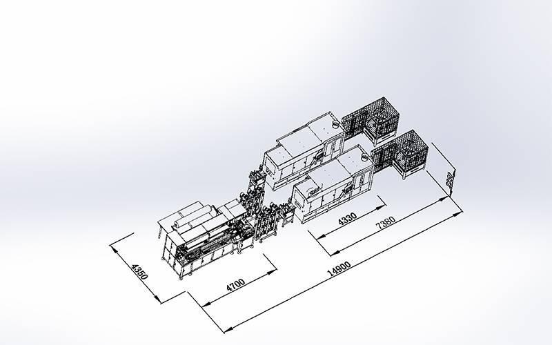 DT + DX-012Línea de producción automática de Spring Pocket 1