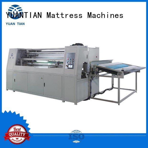 line Automatic High Speed Pocket Spring Machine YUANTIAN Mattress Machines Automatic Pocket Spring Machine