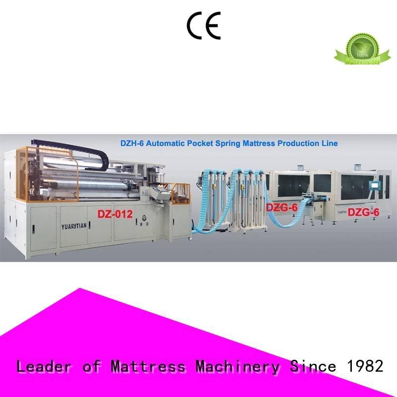 dzg6 Automatic High Speed Pocket Spring Machine YUANTIAN Mattress Machines Automatic Pocket Spring Machine