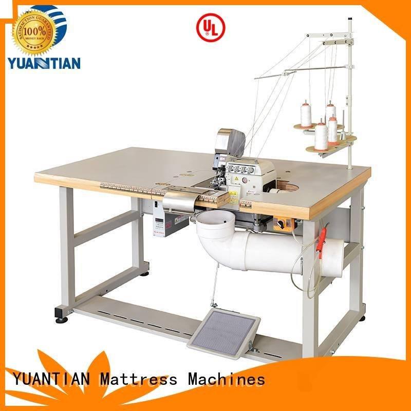 YUANTIAN Mattress Machines heavyduty heads flanging Double Sewing Heads Flanging Machine mattress