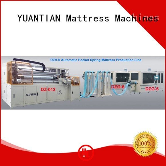 YUANTIAN Mattress Machines Brand dt012 speed Automatic Pocket Spring Machine dzg6 high