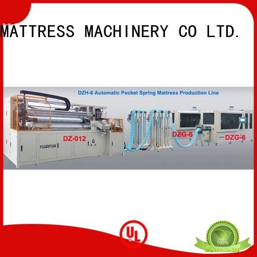 line high speed YUANTIAN Mattress Machines Automatic Pocket Spring Machine