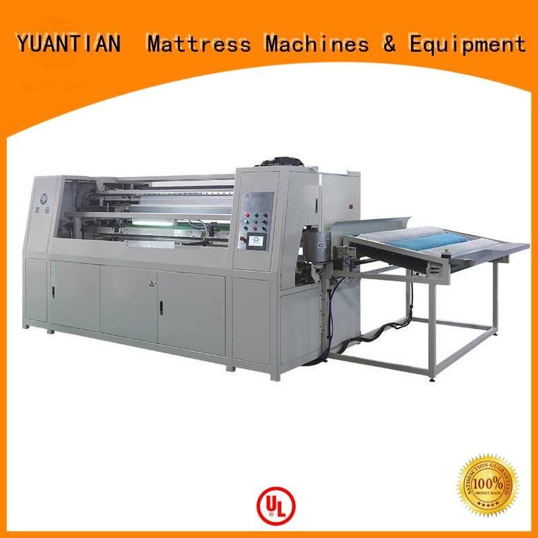 high assembling YUANTIAN Mattress Machines Automatic High Speed Pocket Spring Machine