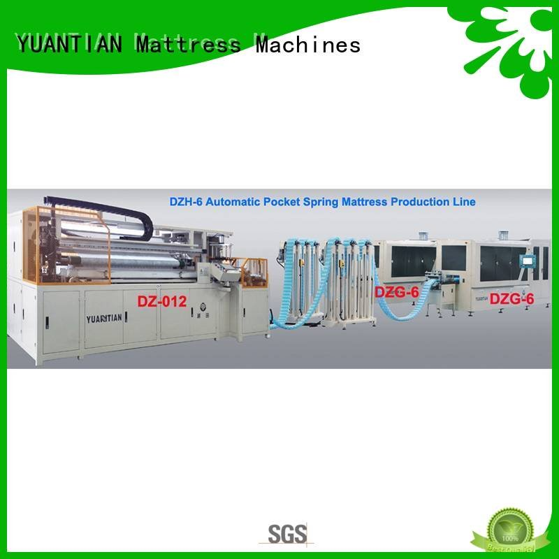 spring automatic YUANTIAN Mattress Machines Automatic High Speed Pocket Spring Machine
